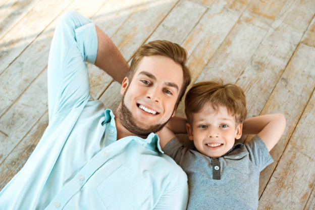 Father and Son photo shoot potrait