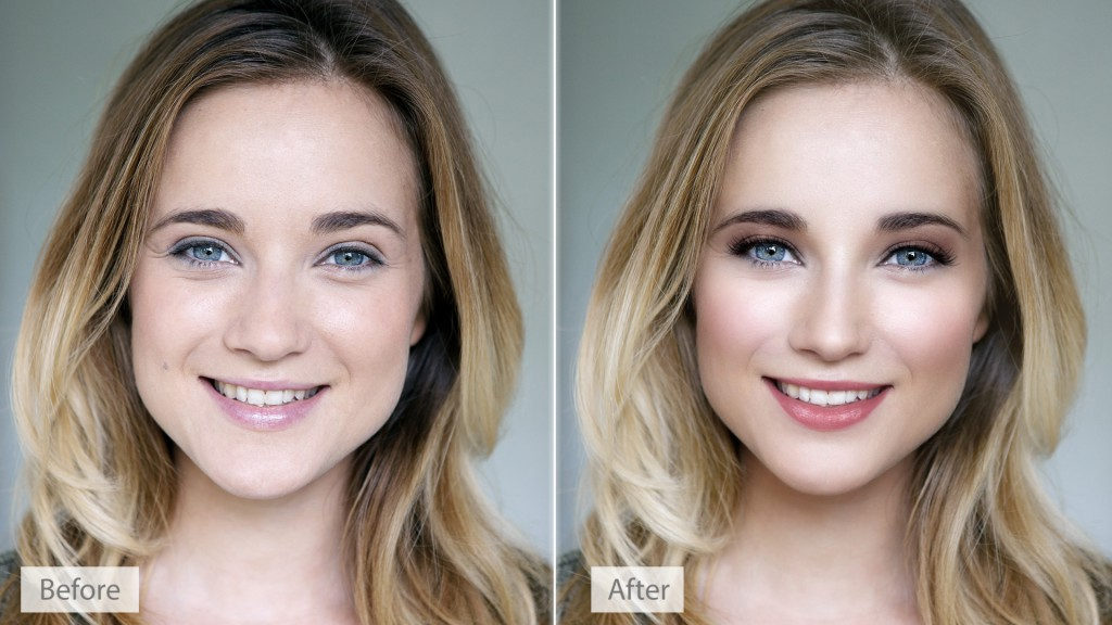 PortraitPro 15 makeup before after